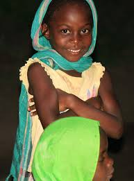 cute young blak muslim girl