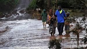 solai dam floods residents walking